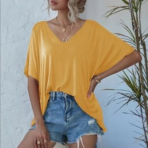 Softest Loose Fit Top- MUSTARD